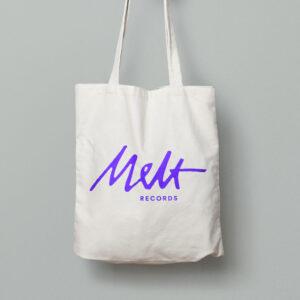 Melt Records Logo Canvas Tote Bag | Melt Records