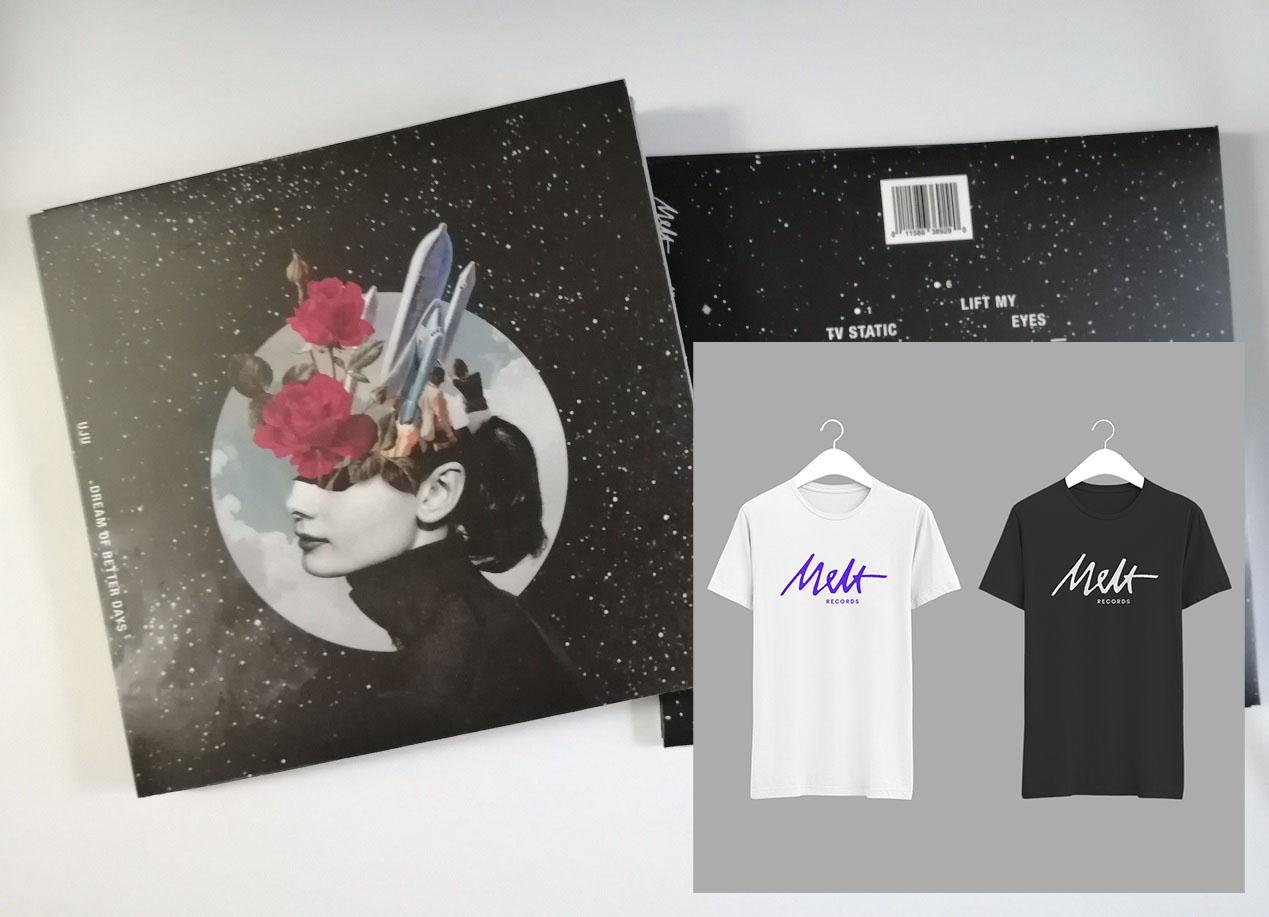 "UJU ""Dream of Better Days"" CD-R + Melt Records Logo Tee Bundle   Melt Records"