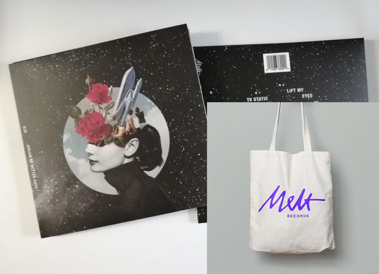 "UJU ""Dream of Better Days"" CD-R + Melt Records Logo Tote Bag Bundle | Melt Records"